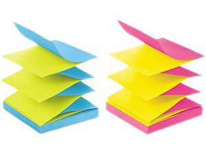 Post-it Pop-up Notes R330-U-ALT Pop-Up Refills, 3 x 3, 4 Alternating Ultra Colors, 12 100-Sheet Pads/Pack
