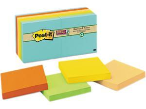 Post-it Notes Super Sticky 654-12SSNRP Farmer's Market Super Sticky Notes, Unlined, 3 x 3, 12 90-Sheet Pads/Pack
