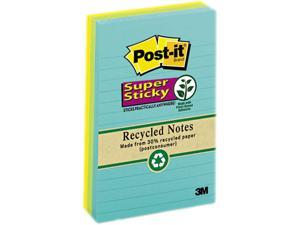 Post-it Notes Super Sticky 660-3SSNRP Farmer's Market Super Sticky Notes, Lined, 4 x 6, 3 90-Sheet Pads/Pack