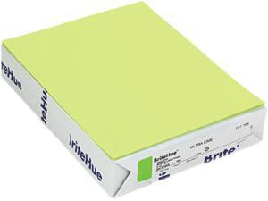 Mohawk 10126-1 Brite-Hue Multipurpose Colored Paper, 20lb, 8-1/2 x 11, Ultra Lime, 500 Shts/Rm