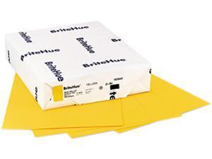 Mohawk 10394-5 Brite-Hue Multipurpose Colored Paper, 24lb, 8-1/2 x 11, Yellow, 500 Sheets/Ream