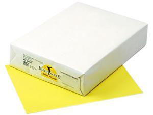 Pacon 102055 Kaleidoscope Multipurpose Colored Paper, 24lb, 8-1/2 x 11, Lemon Yellow, 500/Rm