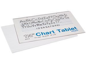 Pacon 74720 Chart Tablets w/Manuscript Cover, Ruled, 24 x 16, White, 25 Sheets/Pad