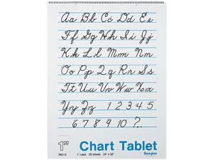 Pacon 74610 Chart Tablets w/Cursive Cover, Ruled, 24 x 32, White, 25 Sheets/Pad