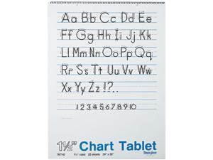 Pacon 74710 Chart Tablets w/Manuscript Cover, Ruled, 24 x 32, White, 25 Sheets/Pad
