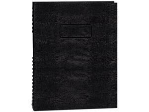Blueline A10200EBLK Exec Wirebound Notebook, College/Margin Rule, 8-1/2 x 11, BLK, 200 Sheets