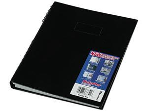 Blueline A10300BLK Note Pro Business Notebook, College Rule, Letter, White, 300 Sheets/Pad