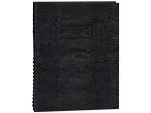 Blueline A7150EBLK Exec Wirebound Notebook, College/Margin Rule, 9-1/4 x 7-1/4, BLK, 150 Sheets
