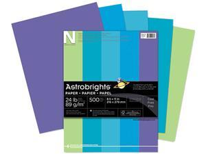 Wausau Paper 20274 Astrobrights Colored Paper, 24lb, 8-1/2 x 11, Cool Assortment, 500 Sheets/Ream