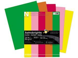 Wausau Paper 21224 Astrobrights Colored Paper, 24lb, 8-1/2 x 11, Assortment, 500 Sheets/Ream