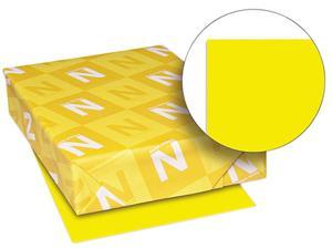 Wausau Paper 22531 Astrobrights Colored Paper, 24lb, 8-1/2 x 11, Solar Yellow, 500 Sheets/Ream