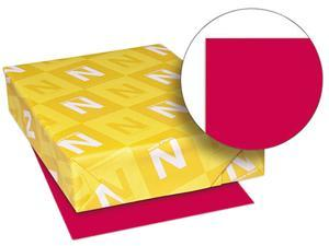 Wausau Paper 22551 Astrobrights Colored Paper, 24lb, 8-1/2 x 11, Re-Entry Red, 500 Sheets/Ream