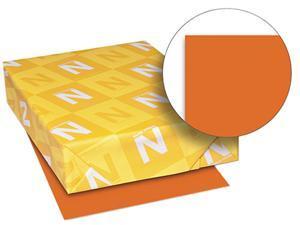 Wausau Paper 22561 Astrobrights Colored Paper, 24lb, 8-1/2 x 11, Orbit Orange, 500 Sheets/Ream
