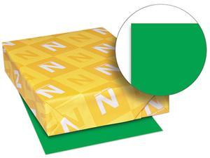 Wausau Paper 22741 Astrobrights Colored Card Stock, 65 lbs., 8-1/2 x 11, Gamma Green, 250 Sheets