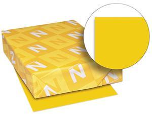 Wausau Paper 22771 Astrobrights Colored Card Stock, 65 lbs., 8-1/2 x 11, Galaxy Gold, 250 Sheets