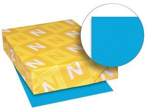 Wausau Paper 22861 Astrobrights Colored Card Stock, 65 lbs., 8-1/2 x 11, Celestial Blue, 250 Sheets