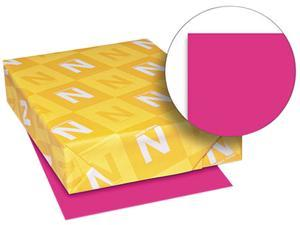 Wausau Paper 22881 Astrobrights Colored Card Stock, 65 lbs., 8-1/2 x 11, Fireball Fuchsia, 250 Shts