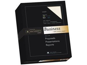 Southworth 3112616 - 100% Cotton Business Paper, Ivory, 24 lbs., Wove, 8-1/2 x 11, 500/Box