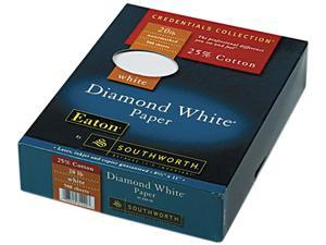 Southworth 31-220-10 25% Cotton Diamond White Business Paper, 20 lbs., 8-1/2 x 11, 500/Box