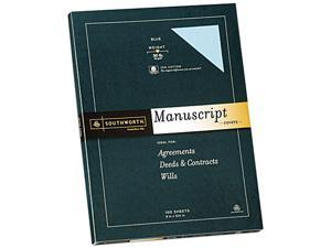 Southworth 41SM 25% Cotton Fine Manuscript Covers, 30 lbs., 9 x 12-1/2, Blue, 100/Box