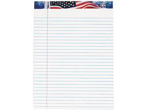 Tops 75111 American Pride Writing Pad, Jr. Legal Rule, 8-1/2 x 11-3/4, White, 50-Sheet, Dz.