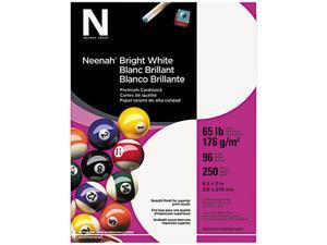 Wausau Paper 91904 Bright White Card Stock, 65 lbs., 8-1/2 x 11, Bright White, 250 Sheets/Pack