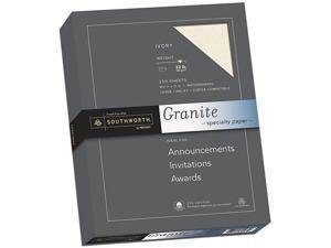Southworth J938C Granite Specialty Paper, 32 lbs., 8-1/2 x 11, Ivory, 250/Box