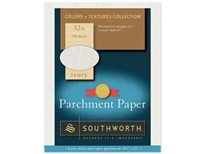 Southworth J988C Parchment Specialty Paper, 32 lbs., 8-1/2 x 11, Ivory, 250/Box