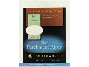Southworth P874CK Parchment Specialty Paper, 24 lbs., 8-1/2 x 11, Celery, 100/Pack