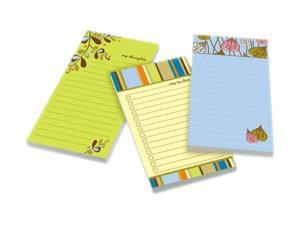 Post-it Assorted Printed Note Pads, 4 x 8, 75 Sheets/Pad, 3 Pads/Pack
