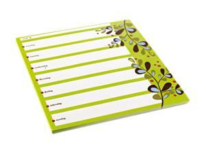 Post-it Super Sticky Notes Weekly Planner, 7 x 8, 26 Sheets/Pad, 1 Pad/Pack