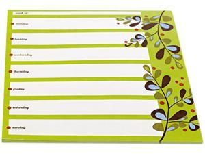 Post-it Notes Super Sticky 7378-P1-CG Super Sticky Notes Weekly Planner, 7 x 8, Lined, 26 Sheets/Pad, 1 Pad/Pack