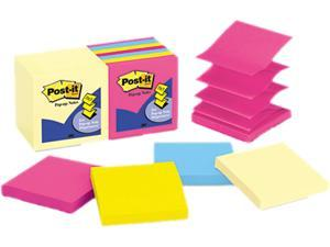 Post-it Pop-Up Note Pad Refills, 3 x 3, 7 Canary Yellow & 7 Asst. Brights 100-Sheet Pads