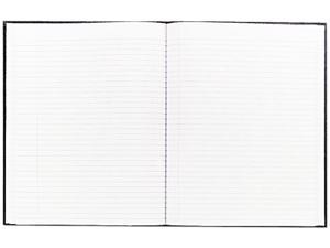 Blueline Large Executive Notebook w/Cover, College/Margin, Ltr, WE, 75 Sheets