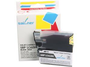 Sailner Compatible SBP-LC61BK Ink Cartridge (OEM# Brother LC61BK) Black