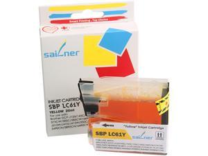 Sailner SBP-LC61Y inkjet Cartridge, (OEM# Brother LC61Y)&#59; Yellow