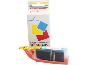 Sailner Compatible SCP-CLI-221C inkjet Cartridge, alternative for Canon OEM# CLI-221C