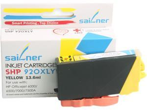 Sailner Compatible SHP 920XL Y inkjet Cartridge, Cartridge for HP OEM#  920XL Y