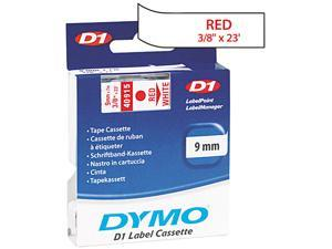 "Dymo D1 40915 Tape 0.37"" Width x 23 ft Length - 1 Each - Polyester - Thermal Transfer - White"