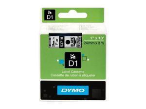 "DYMO 53710 1"" (24 mm) Standard D1 Labels, Clear with Black Type"