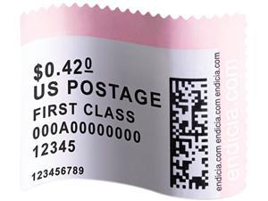 Dymo 30915 LabelWriter Postage Stamp Labels, 1-5/8 x 1-1/4, White, 200/RL