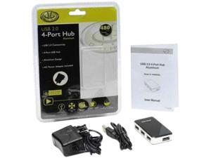 Gear Head UH5600AL 4Port Usb 2.0 Aluminum Hub Ac Powered Rohs