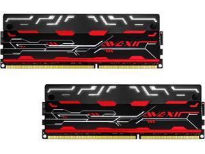AVEXIR Blitz 1.1 Series Original (White LED) 8GB Kit (2 x 4GB) Dual Channel 240-pin DDR3 SDRAM DDR3 2800 (PC3 22400) Desktop Memory Module Model AVD3UH28001204G-2BZ1