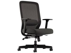 basyx VL721 Series Mesh Executive Chair, Mesh Back, 100% Polyester Seat, Black