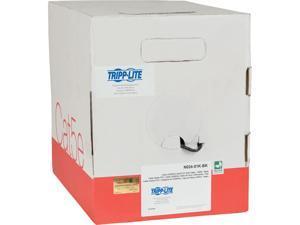 Tripp Lite Cat5/Cat5e Bulk Solid-Core Plenum-Rated PVC Cable, Black, 1000 ft. (N024-01K-BK)