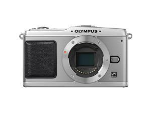 OLYMPUS PEN DIGITAL E-P1 Silver Interchangeable Lens Type Live View Digital Camera - Body Only