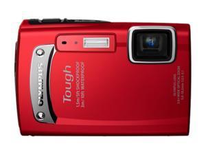 OLYMPUS TG-130 Red 14.0 MP Waterproof 28mm Wide Angle Digital Camera