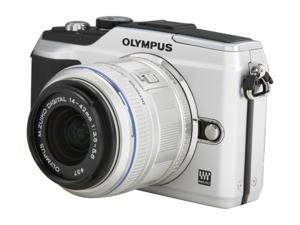 OLYMPUS E-PL2 Silver 12.3 MP Interchangeable Lens Type Live View Digital Camera w/ m14-42mm II