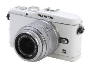 OLYMPUS PEN E-P3 (V204031WU000) White Interchangeable Lens Type Live View Digital Camera w/14-42mm Lens