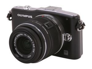 OLYMPUS  PEN E-PM1  Black  Digital Camera w/14-42mm Lens